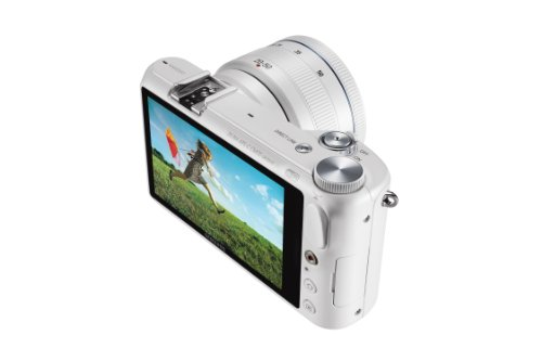 Samsung NX2000 20.3MP CMOS Smart WiFi Mirrorless Digital Camera with 20-50mm Lens and 3.7'' Touch Screen LCD (White) (Discontinued by Manufacturer) by Samsung (Image #5)