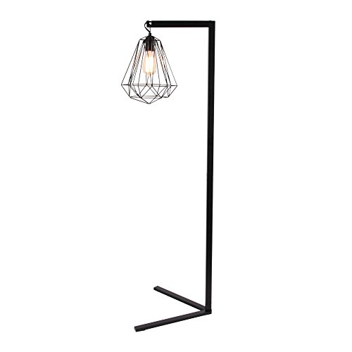 Benzara Metal Floor Lamps Bm119083 Benzara Black Metal Wire Floor Lamp 16 X 55 X 18 Inches Brown