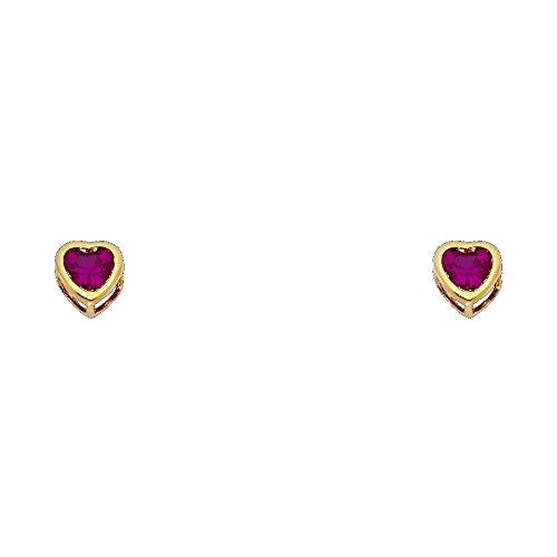 14k 5 Mm Heart - 4
