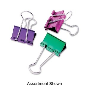 BAU29720 - Baumgartens Metallic Colored Binder - Clips Binder Baumgartens