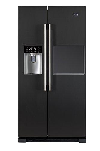 Haier HRF-628AN6 Side-by-Side / A+ / 179 cm Höhe / 420 kWh/Jahr / 375 L Kühlteil / 175 L Gefrierteil / Barfach Schneller Zugriff auf Getränke / anthrazit