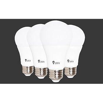 lyfeLite Rechargeable Emergency LED Light bulb 4-5 hour Emergency Lighting 5 watt (40 watt equivalent) 450 lumens Daylight Non dimmable E26 4 pack
