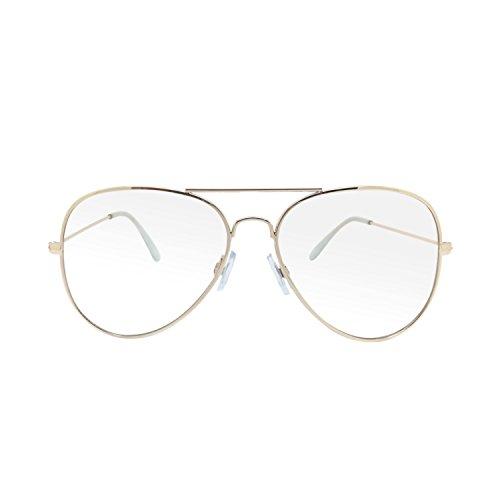 Clear Non Prescription Premium Aviator Fashionable - Glasses Fashionable Mens