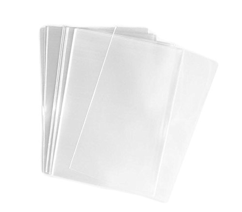 (100PCS 1.2mil Transparent Gift Wrap Flat Cello/Cellophane Treat Bag(Not Sticky) for Snacks Bakery Candle Soap Cookie Gift Basket Supplies Xmas (5'' x 7''))