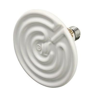 Generic 125mm Blanc infrarouge en céramique émetteur de chaleur ampoule lampe AC 110