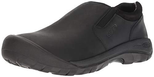 KEEN Men's Austin Casual Slip-ON Shoe, Black/Raven, 9.5 M US