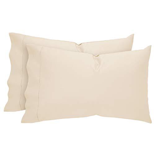 Stone & Beam 100% Supima Cotton Pillowcase Set, Set of 2, Soft and Easy Care, Standard, Ivory