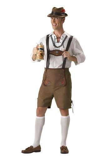 [InCharacter Costumes Men's Oktoberfest Guy  Costume, Brown, Medium] (Deluxe Oktoberfest Hat)