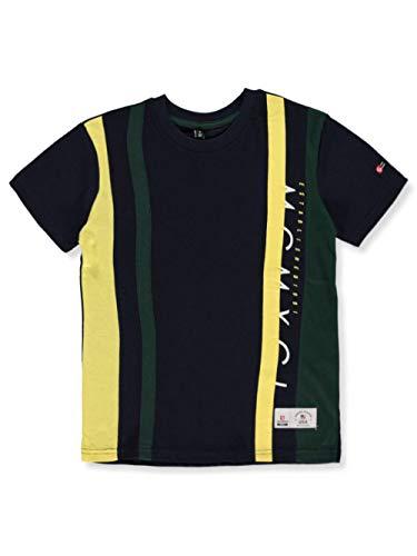 Southpole - Kids Boys' Big Stripe Short Sleeve Fashion Tee Shirt, Navy Vertical, Large ()