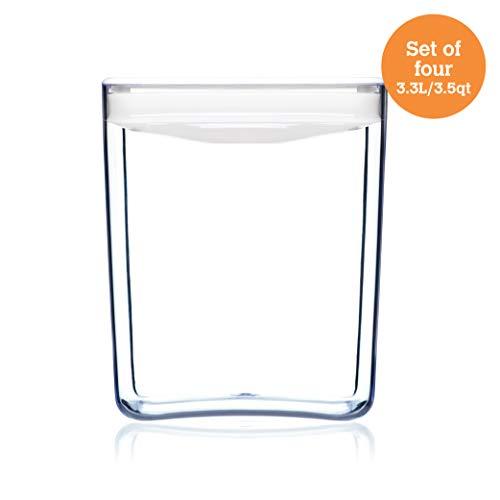 ClickClack Cube Food Storage/Display Canister, 3.5 qt, Set of 4 ()