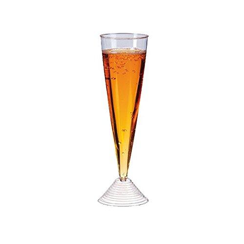 Packnwood 210FLUTSOUC Plastic Stemmed Champagne Glass - 3...