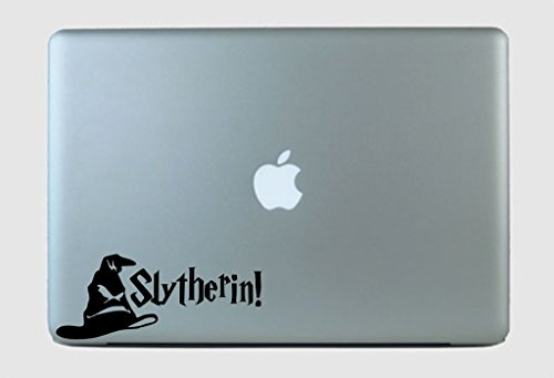 SimplyVinylized Harry Potter Inspired Slytherin! Sorting Hat Vinyl Decal Sticker Black