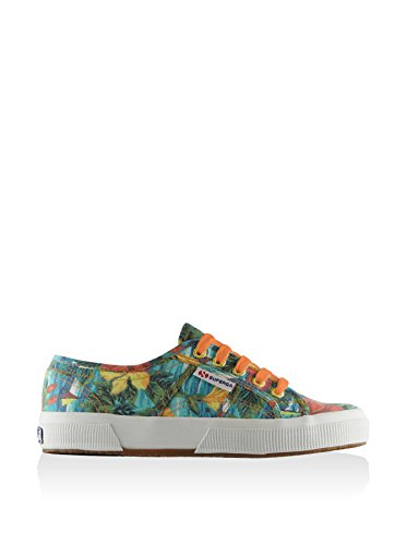 Superga 2750 Cotu Fabric 27 - Zapatillas de Deporte de canvas Unisex adulto AZUL-YELLOW