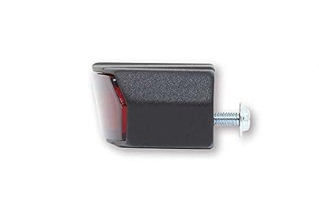 schwarzes Metallgeh/äuse E-gepr/üft. rotes Glas SHIN YO LED R/ücklicht LIGHT GUIDE mit Nummernschildbeleuchtung