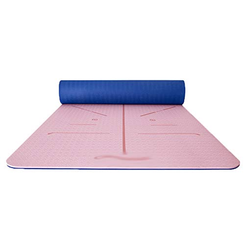 HBKJ Yoga mat Yoga mat/Non-Slip Stable Fitness mat, Yoga mat, Environmentally Friendly and Tasteless Exercise mat, Beginner Thick high Elastic Tear-Resistant Exercise mat