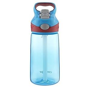 Contigo AUTOSPOUT Striker Reusable Kids Water Bottle, 14oz, Electric Blue (2-Pack)