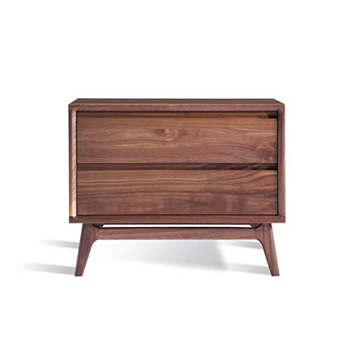 GHH Nightstand North American Black Walnut Solid Wood Bedside Table Modern Side Cabinet Bedroom Storage Cabinet Jewelry Furniture Cabinet