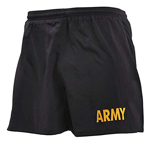Military US Army Black and Gold PT Shorts Physical Training (XL)