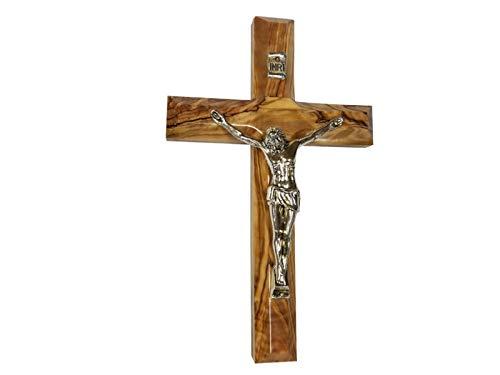 "Bethlehem Gifts TM Handcarved from Bethlehem Olive Wood Cross Crucifix (Crucifix, 5"")"