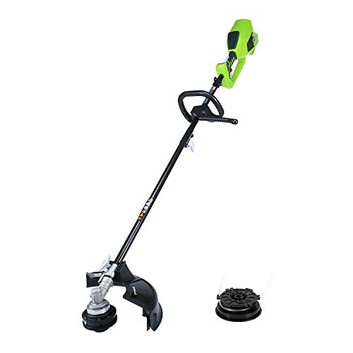 Greenworks 14-Inch 40V Cordless String Trimmer (Attachment Capable) with Bulk Line, Battery and Charger Not Included 2100202