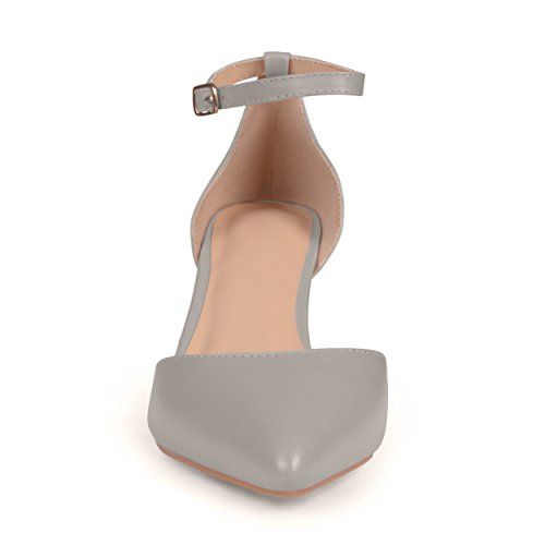 Journee Collection Womens Matte Ankle Strap Pumps Grey xO6gfooBDc