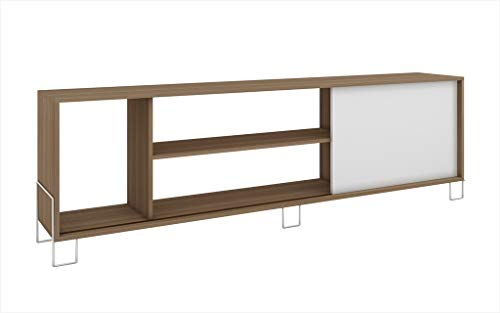 Manhattan Comforts 9AMC47-MC Nacka TV Stand 1.0, Oak and White