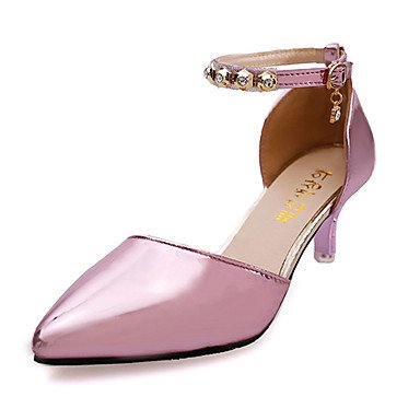 Women'sSandals 5 Purple Slip 5 Silver on PU Comfort Others EU36 Casual Fall US5 Gold Heel Low UK3 Pink Winter CN35 BwZSxFrB