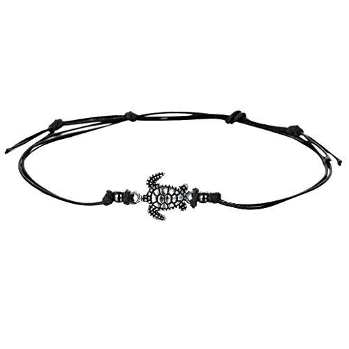 Handmade Braided Leather Bracelets, FILOL Adjustable Bracelets Infinity Love Heart Pearl Friendship Relationship Bracelets for Man Women Couples (Black)