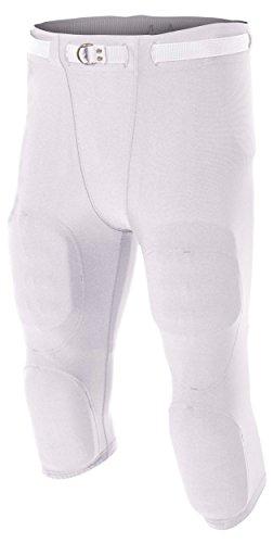 A4 Flyless Football Pant, White, XXXX-Large ()