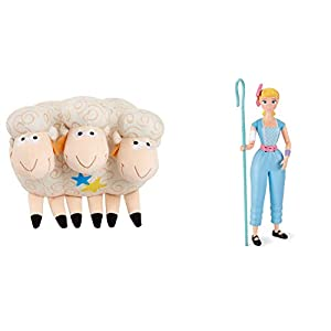 www.disney.com Toy Story 4 16″ Bo Peep Talking Action Figure and Bill, Goat & Gruff with Sounds Figures