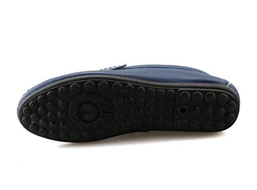 Beauqueen Cueros de los hombres Mocasines prácticos huecos transpirables suaves suelas antideslizantes Slip-ON zapatos casuales UE tamaño 38-44 Black
