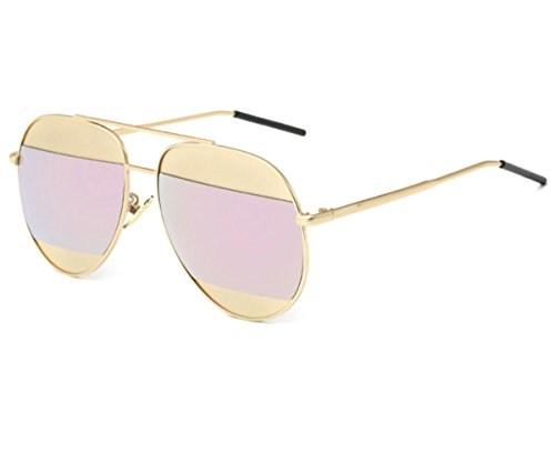 Konalla Personalized Bicolor Avaitor Anti-UV Unisex Sunglasses - Bulk Sunglasses Personalized