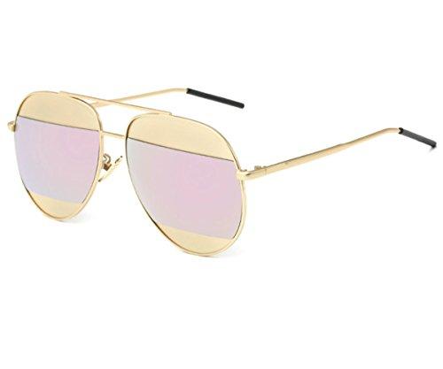 Konalla Personalized Bicolor Avaitor Anti-UV Unisex Sunglasses - Sunglass Working For Hut