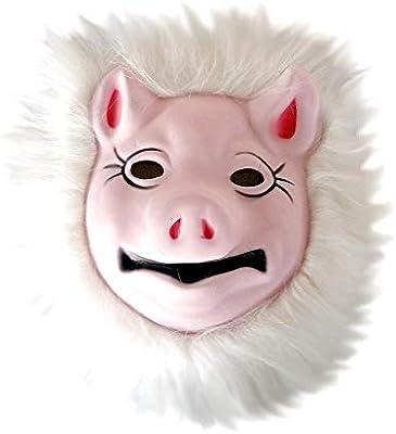 KIRALOVE Máscara de Disfraz - Cerdo de Cerdo Rosa - Disfraces de ...