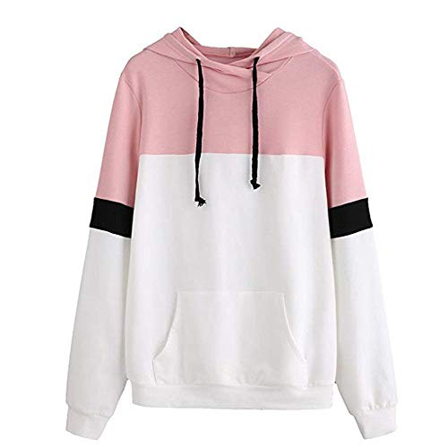 Hoodies for Teen Girls, Corriee Women Casual Splice Warm Hooded Jacket Coat Fall Letter Print Cute Sweatshirts ()