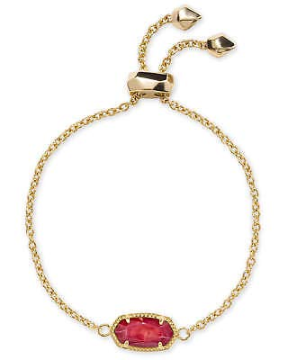 Chain Mother Of Pearl Bracelet - Kendra Scott Elaina Red Mother of Pearl Gold Chain Bracelet