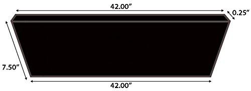"Moldings Online Mohawk Butterscotch Collection: Rockford Oak Riser, 42"" L x 0.25"" H -  2616342420"