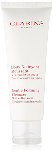 Clarins Gentle Foaming Cleanser with Cottonseed, Normal to Combination Skin, 4.4-Ounce Box