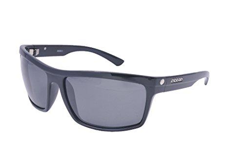 Negro de Talla Negro Ahumada Sol brillo Color Negro única Gafas John Sunglasses Unisex Ocean xatvO
