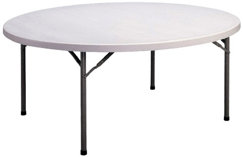 Correll CP48 Light Weight Economy Blow-Molded Plastic Folding Table, 72