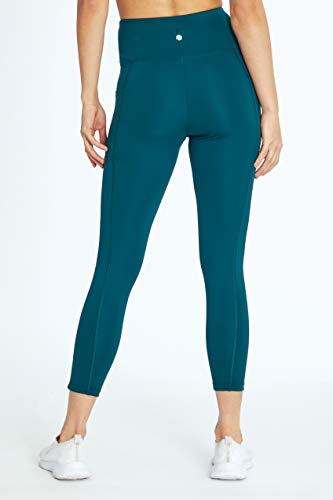 Bally Total Fitness High Rise Pocket Mid-Calf Legging, Pine, Medium