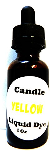 Liquid Candle Dye (Yellow) - 1oz Glass Dropper Bottle with Childproof Lid Premium Dye for All Waxes Exp Soy Wax