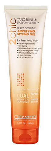 Giovanni 2chic Ultra-Volume Thickening Styling Gel with Tangerine and Papaya Butter, 5.1 Fluid Ounce