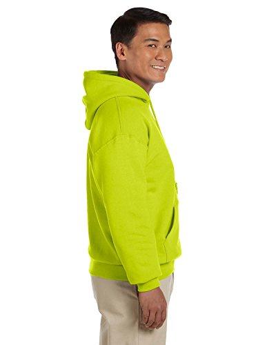 Gildan Heavyweight DryBlend Adult Unisex Hooded Sweatshirt Top / Hoodie (13 Colours) (L) (New Safety Green) - Jacket Ansi Hooded Fleece