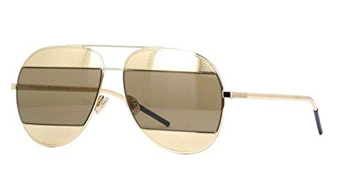 New Christian Dior SPLIT 1 J5G/5V Gold/Brown - Split Sunglasses Dior