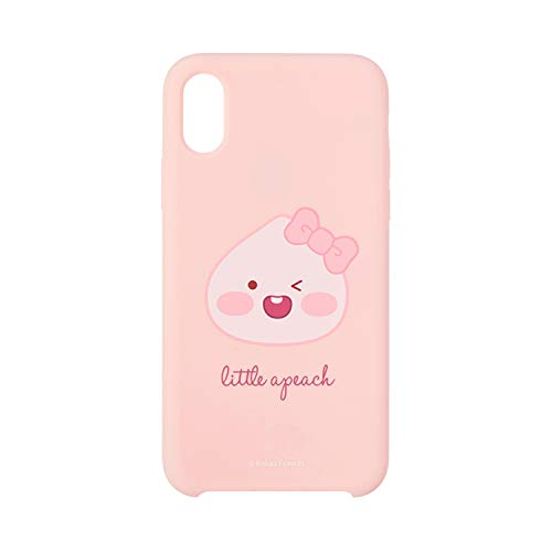 KAKAO FRIENDS Official- Little Friends Slim Silicone Phone Case Compatible with iPhone (Apeach, X/XS)