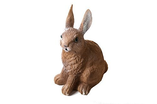 Tiere mit Sensor und Tiergeräuschen Gartenfigur Teichfigur Gartendeko Skulptur (Hase)