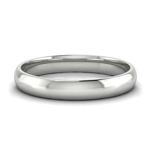 Buy Jewels 10k Gold Comfort Fit 4mm Wedding Bands for Men and Women (white-gold, (Yellow White Gold Wedding Rings)