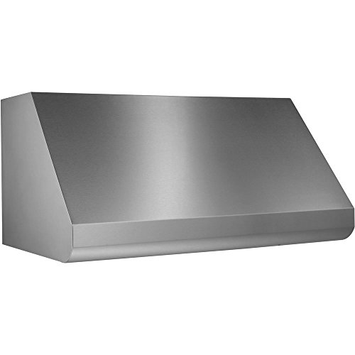 "Broan Elite E60 E6048TSS 48"" Wall-Mount Canopy Range Hood with 1200 CFM Internal Blower Variable Speed Control Heat Sentry Sensor Baffle Filters and Convertible to Recirculating in Stainless"