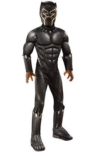 Rubie's Deluxe Black Panther Child's Costume, Grey, -